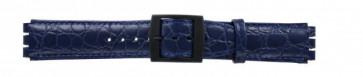 klokkerem for Swatch krokodille blå 17mm PVK-SC10.05