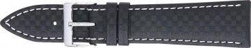 karbon klokkerem svart med hvit søm 24mm PVK-321