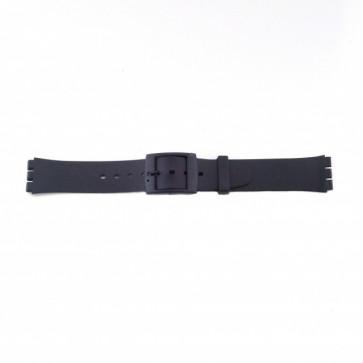 Plastikkrem for Swatch svart tynn modell 17mm PVK-P51
