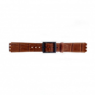 klokkerem for Swatch krokodille brun 16mm PVK-SC16.03