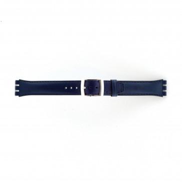 Rem for Swatch marineblå 19mm