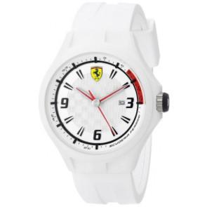 Ferrari klokkerem SF101.1 / 0830003 / SF689309000 / Scuderia Gummi Hvit 22mm