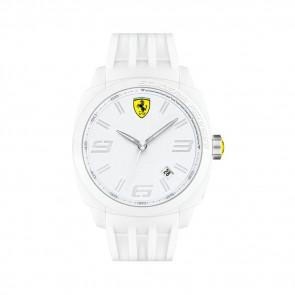 Ferrari klokkerem SF113.1 / 0830113 / SF689300066 / Scuderia Gummi Hvit 24mm