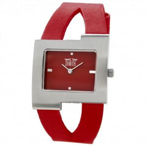 Klokkerem Davis BB1404 Lær Rød 10mm