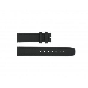 Boccia klokkerem 3771-01 Lær Svart 20mm + standard sømmer