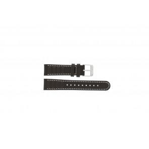 Olympic klokkerem 89JAL004 Lær Brun 18mm + søm hvit
