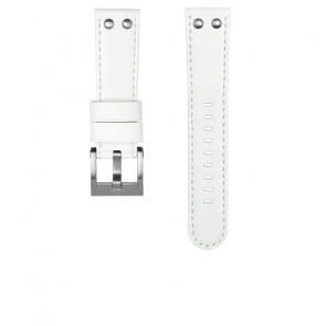 TW Steel klokkerem CEB108 Lær Hvit 22mm + søm hvit