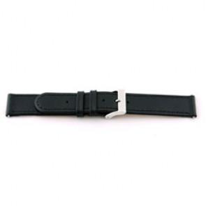 klokkerem i ekte lær svart 18mm med søm EX-J46