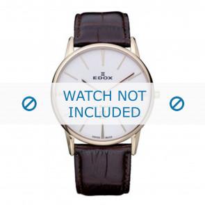 Edox klokkerem 26023-37R-BR Lær Brun 22mm + standard sømmer