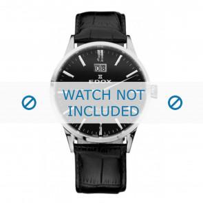 Edox klokkerem 63001-3-NIN Lær Svart 21mm + standard sømmer