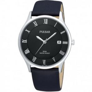 Klokkerem Pulsar VX42-X355 Lær Svart 20mm