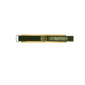 Esprit klokkerem ES101333002U Borrelås Grønn 16mm + søm brun