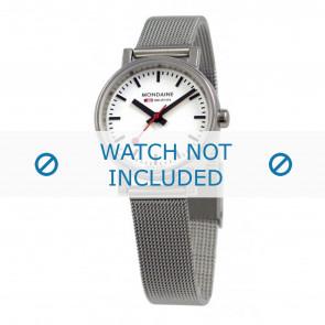 Mondaine klokkerem A658.30301.11SBV / BM20037 / 30301 / EVO 26 Metall Sølv 12mm