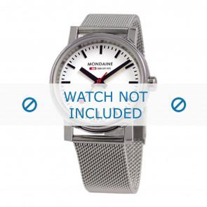 Mondaine klokkerem BM20126 / BM20038 / 30300 / 30314 / Classic 36 / Evo 35  Metall Sølv 18mm