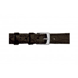 Morellato klokkerem Classico Cucito D2213052019DO08 / PMD019CLSCCU08 Krokodille skinn Svart 8mm + standard sømmer