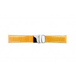Morellato klokkerem Tipo Chronotech U3084656286CR24 / PMU286CHROTC24 Krokodilleskinn Oransje 24mm + standard sømmer