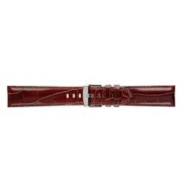 Morellato klokkerem Ypsilon X3555990032CR24 / PMX032YPSILN24 Krokodilleskinn Brun mørk 24mm + standard sømmer