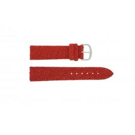 Klokkerem Davis B0231 Lær Rød 20mm
