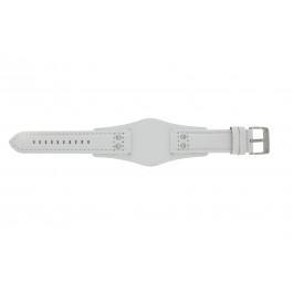 Klokkerem Fossil CH2592 Lær Hvit 22mm