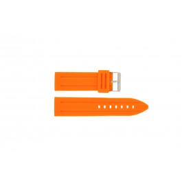 Klokkerem Universell DS253.12.24 Silikon Oransje 24mm