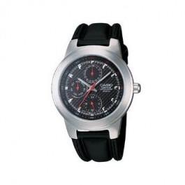 Klokkerem Casio EF-308L-1AV / RL-301L-1AV Lær Svart 16mm