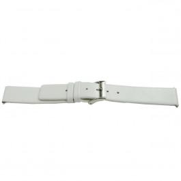 Klokkerem Universell K510 Lær Hvit 28mm