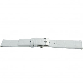 Klokkerem Universell H520 Lær Hvit 22mm