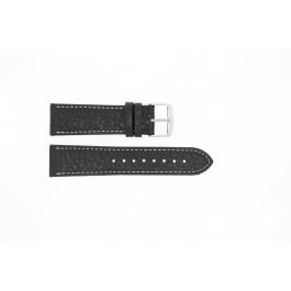 Klokkerem Universell 307.01 XL Lær Svart 22mm