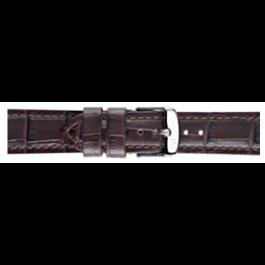 Morellato klokkerem Botero U2226480032CR24 / PMU032BOTERO24 Krokodilleskinn Brun mørk 24mm + standard sømmer