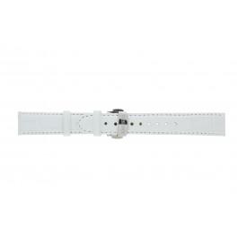 Vendoux klokkerem LS- Lær Hvit 18mm + søm hvit
