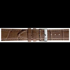 Morellato klokkerem Bolle X2269480029CR24 / PMX029BOLLE24 Krokodilleskinn Brun 24mm + standard sømmer