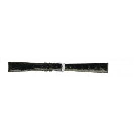 Morellato klokkerem Classico D2212052019CR08 / PMD019CLSCRO08 Krokodille skinn Svart 8mm