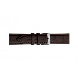 Morellato klokkerem Bolle X2269480032CR12 / PMX032BOLLE12 Krokodilleskinn Brun mørk 12mm + standard sømmer