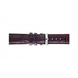 Klokkerem Morellato Bolle X2269480181CR24 Krokodilleskinn Bordeaux 24mm