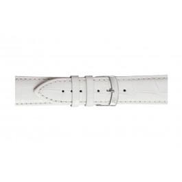 Morellato klokkerem Extra X3395656017CR24 / PMX017EXTRA24 Krokodilleskinn Hvit 24mm + standard sømmer