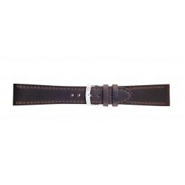 Morellato klokkerem Sportage X4471696030CR24 / PMX030SPORTA24 Glatt lær Brun mørk 24mm + standard sømmer