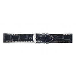 Morellato klokkerem Plain X4733480019CR24 / PMX019PLAIN24 Krokodilleskinn Svart 24mm + søm hvit