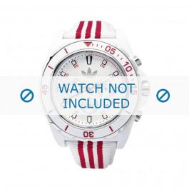 Klokkerem Adidas ADH2666 Lær/Tekstil Hvit 24mm