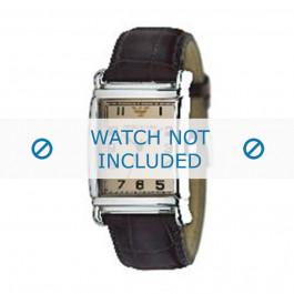 Klokkerem Armani AR0234 / AR0402 Lær Brun 26mm