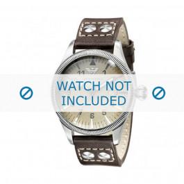 Klokkerem Armani AR0513 Lær Antrasittgrå 23mm