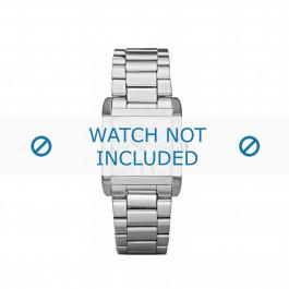 Questo cinturino orologio sostituzione Armani in metallo / acciaio, modello AR-5704, può essere unito alla cassa del tuo orologio con le puntine speciali.