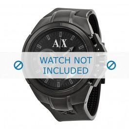 Klokkerem Armani AX1050 Silikon Svart 14mm