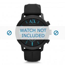 Klokkerem Armani AX1356 Silikon Svart 24mm