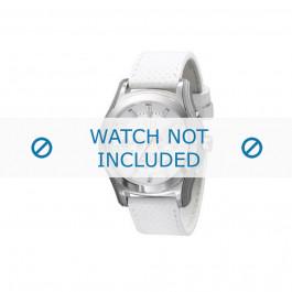 Klokkerem Armani AX2071 Lær Hvit 22mm