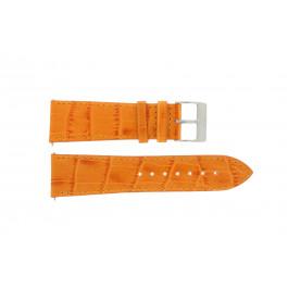 Klokkerem Davis B0201 / 16 Lær Oransje 16mm