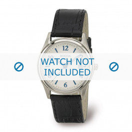 Boccia klokkerem 3199-01 Lær Svart 16mm + søm svart