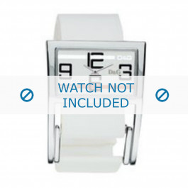 Klokkerem Dolce & Gabbana 3719251192 Lær Hvit 18mm