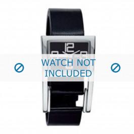 Klokkerem Dolce & Gabbana 3719251215 Lær Svart 18mm