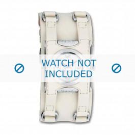 Klokkerem Dolce & Gabbana DW0100 Lær Kremhvit 24mm