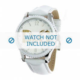 Dolce & Gabbana klokkerem DW0706 Lær Hvit 20mm + søm hvit